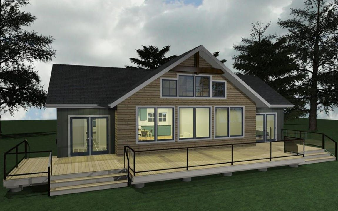 custom cottage plan rendering